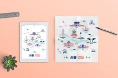 Seoul Map - illustration design on Behance