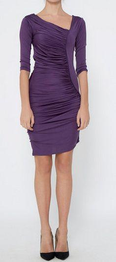 Catherine Malandrino Purple Dress