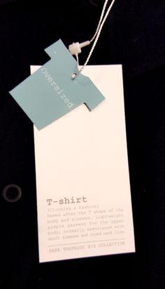 Zara Trafaluc #hangtag                                                                                                                                                      More Label Design, Box Design, Branding Design, Hangtag Design, Digital Paper Free, Digital Papers, Digital Scrapbooking, Price Tag Design, Design Visual