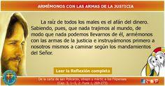 MISIONEROS DE LA PALABRA DIVINA: REFLEXIÓN - ARMÉMONOS CON LAS ARMAS DE LA JUSTICIA...