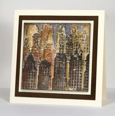 """From a snowscape to a vintage cityscape my Inchie experiments continue. I never would have guessed when I first saw this skyline stamp that it would become such a favourite. Workingon a 3""""square s..."""