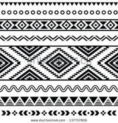 Tribal aztec pattern