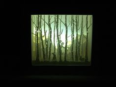 Birch forest, paper cut light box by Artboxvn on Etsy https://www.etsy.com/listing/479773127/birch-forest-paper-cut-light-box