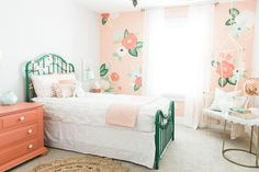 Boho bedroom cutest ever girls bedroom with floral wall boho bedroom design ideas . Big Girl Bedrooms, Little Girl Rooms, Girls Bedroom, Bohemian Bedrooms, Trendy Bedroom, Comfy Bedroom, White Girls Rooms, Bedroom Wall, Bedroom Decor