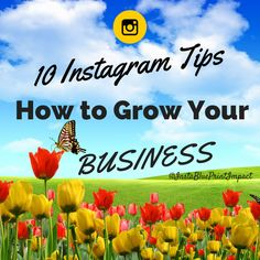 10 Tips On How To Grow Your Business On Instagram.  #smallbusiness #marketingonline