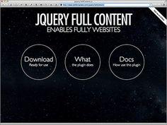 【 fullContent 】ブラウザいっぱいに表示した複数のコンテンツをマトリックス状に切り替えるスクリプト  http://coliss.com/articles/build-websites/operation/javascript/jquery-plugin-fullcontent.html