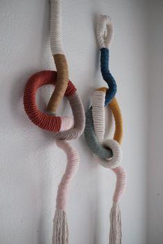 Recent Work — Elsie Goodwin Rope Crafts, Dyi Crafts, Arts And Crafts, Macrame Design, Macrame Art, Felt Wall Hanging, Yarn Wall Art, Fiber Art Quilts, Fabric Structure