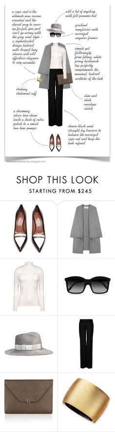 """""""LESSON IN SIMPLIFYING"""" by paint-it-black ❤ liked on Polyvore featuring Tabitha Simmons, Valentino, Acne Studios, STELLA McCARTNEY, Eugenia Kim, Valextra and Alexis Bittar"""