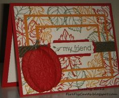 FireFlys Cards - Stampin Up! Gently Falling stamp set.
