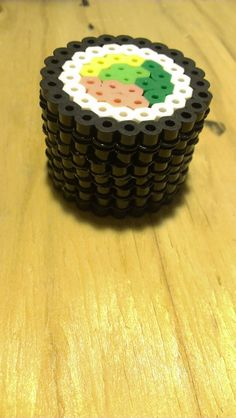 Tiny sushi perler bead box