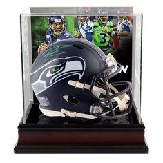 624953d9011 Russell Wilson Seattle Seahawks Fanatics Authentic Autographed Riddell  Speed Mini Helmet with Deluxe Mini Helmet Case
