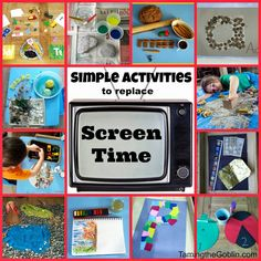 Taming the Goblin: Simple activities to replace screen time