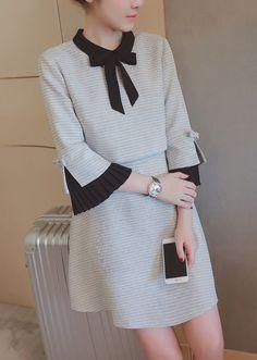 【预定款】气质假两件连衣裙