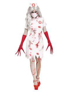 Amazing Womens Horror Nurse Costume. Trendy Range of Spooky & Horror Costumes for Halloween at PartyBell. Horror Costume, Scary Halloween Costumes, Halloween Party, Women Halloween, Adult Halloween, Spooky Halloween, Halloween Ideas, White Nurse Dress, Cute Scrubs