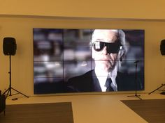 Video wall at the Art Shoppe Condo Sales Centre in Toronto