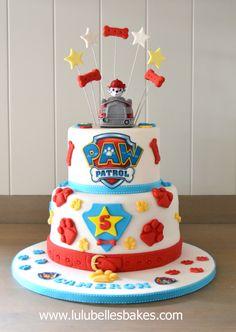 Pastel de Paw Patrol. Perfecto para una celebración temática.#PatrullaCanina #tarta