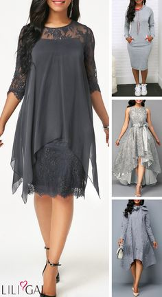 Find a special occasion dress that you'll feel your best in. Shop Liligal for all your holiday wardrobe needs and find an elegant grey dress that's anything bu Mob Dresses, Sexy Dresses, Casual Dresses, Fashion Dresses, Mother Of Groom Dresses, Mothers Dresses, Club Party Dresses, Trendy Clothes For Women, Elegant Dresses