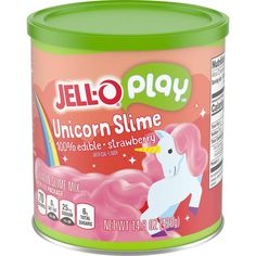Jell-O introduces their edible Unicorn slime kit and it's fabulous! We've all seen the edible slime DIYs online but now Jell-O has their own version. Jell O, Pink Slime, Free Slime, Edible Slime, Slime And Squishy, Slime Kit, Slime Recipe, Unicorn Party, Unicorn Gifts