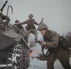 Mechanized infantry of the National People's Army on maneuvers.