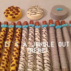 http://www.babyshowerinfo.com/ideas/safari-theme-baby-shower/ Safari/Jungle theme baby shower Cake Pops
