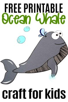 Looking for a fun summer craft or maybe a greeting card for Father's day? Click now to print the free sperm whale template and make this adorable sperm whale craft. He is also the perfect whale to teach the bible lesson of Jonah and the whale! Ocean Crafts for Kids  #whalecrafs #spermwhalecrafts #oceananimals #oceananimalcrafts #biblecrafts #simplemomproject Sea Creatures Crafts, Sea Animal Crafts, Whale Crafts, Animal Crafts For Kids, Craft Projects For Kids, Sea Life Crafts, Sun Crafts, Ocean Crafts, Jonah And The Whale