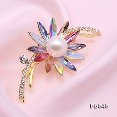 JYX Fine White Freshwater Pearl Brooches Pins -- Visit the image link more details. (This is an affiliate link) #WomensJewelry