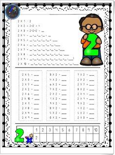 HOJAS PARA REPASAR LAS TABLAS DE MULTIPLICAR Homeschool, Teacher, Education, Learning Activities, Equivalent Fractions, Maths Area, Multiplication, Math Resources, Professor