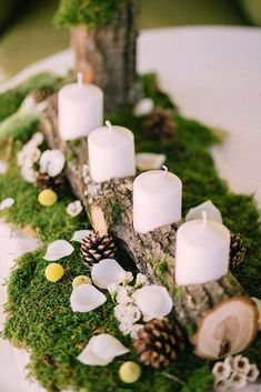 Charming Winter Wedding Decorations ❤ See more: http://www.weddingforward.com/winter-wedding-decorations/ #weddings #weddingcandlestick