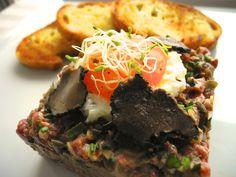 Steak Tartare com Trufas Negras