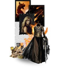 """Visenya Targaryen"" by kate7695 on Polyvore 2nd place in group contest: Queens"