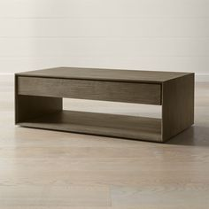Our Ethan coffee table seamlessly integrates living room storage into a clean, modern design made of oak and oak veneer. Casual Living Rooms, Living Room Modern, Home Living Room, Living Room Designs, Coffee Table Crate And Barrel, Coffee Table With Drawers, Coffee Tables, Beautiful Houses Interior, Living Room Storage