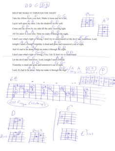 Help Me Make It Through The Night (Kris Kristofferson) Guitar Chord Chart Music Chords, Lyrics And Chords, Guitar Chords, Acoustic Guitar, Music Music, Sheet Music, Guitar Lessons For Kids, Music Lessons, Elvis Guitar