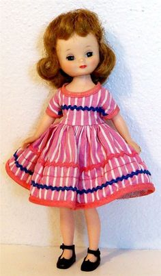 "1958 Betsy McCall in her outfit ""Square Dance"""