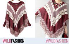 Tinutele noastre pot fi si calduroase, daca purtam acest moncho tricotat, cu ciucurei haiosi. Model, Sweaters, Fashion, Moda, Fashion Styles, Scale Model, Fasion, Sweater