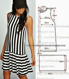 49 Ideas for sewing clothes diy dress inspiration Fashion Sewing, Diy Fashion, Ideias Fashion, Dress Sewing Patterns, Clothing Patterns, Summer Dress Patterns, Pattern Sewing, Free Pattern, Simple Dress Pattern