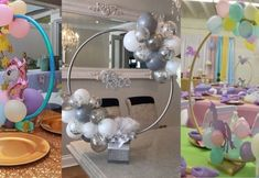 Tom y Jerry - Dale Detalles Unicorn Themed Birthday Party, Cars Birthday Parties, Unicorn Party, Birthday Party Decorations, Diy Valentine's Day Decorations, Balloon Decorations, Fundraiser Baskets, Unicorn Centerpiece, Frozen Crafts
