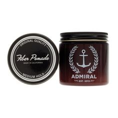 """Admiral Fiber Pomade is the """"Workhorse"""" of ourstyling products. Developed to work in a wide variety of hairstyles, our premium formulation uses Micro-Fibers t"""