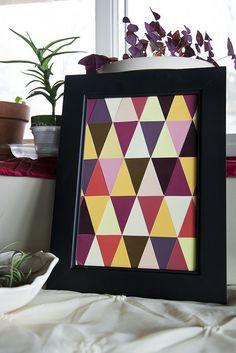 My DIY Paint Chip Art by GardenBluesPhotography