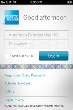 Depending on the day the American Express app greets you with Good afternoon/Good evening.