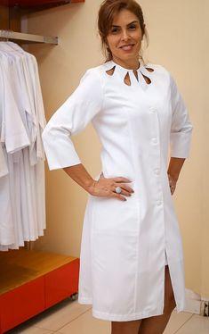 Nursing Clothes, Nursing Dress, Doctor White Coat, Stylish Scrubs, Beauty Uniforms, Salwar Neck Designs, Scrubs Outfit, Designs For Dresses, Salvador Ba