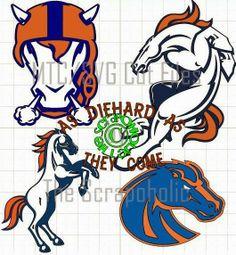 Superbowl 48 ~ Go Denver Broncos! Free MTC/SVG Cut Files