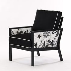 Graffiti Club Chair Blk Wht III, $1,899, now featured on Fab.