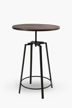 Spinning Bar Table, Large - Shop New In - Furniture - Shop Solid Wood Furniture, Large Furniture, New Furniture, Bar Chairs, Bar Stools, Spin Bar, Bar Set, Wood And Metal, Spinning