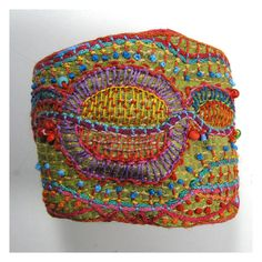 Carla Madrigal/MadrigalEmbroidery - Hand Embroidered MultiColored Cuff