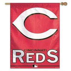 d0f502ac4 OneStopFanShop  Cincinnati Reds Flags - Vertical Outdoor Reds House Flag  Red Flag