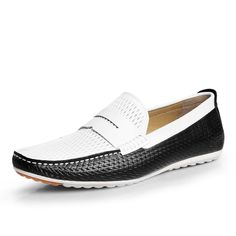 129.99$  Watch here - http://alibo5.worldwells.pw/go.php?t=32775916503 - Discount Spring Men's Casual Shoes For Sale Designer White Loafers Solid  Handmade Sewing Genuine Leather Flat Shoes For Men 129.99$