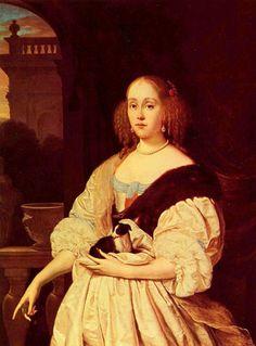 Frans Van Mieris (1635-1681) - Portrait of a lady, 1672