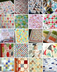Thimbleanna.com: Charm Pack Quilts (SHEETS & SHIRTS QUILT) at site, is so fresh and easy, love it