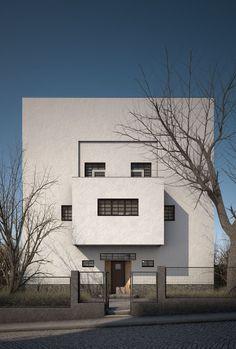 Adolf Loos, mede-inspirator van de Bauhaus beweging in de jaren twintig, pleit ervoor dat elk huis zijn eigen tuin krijgt, waarin eigen voedsel verbouwt kan worden en er contact blijft met de natuur. Zulke tuinen kunnen betrekkelijk groot zijn, omdat ze dan voorzien in de behoefte aan recreatie. Dan zou er minder grond nodig zijn voor de ontspanningsindustrie ver van huis en dus voor de aanleg van snelwegen, parkeerplaatsen, recreatieprojecten enz.