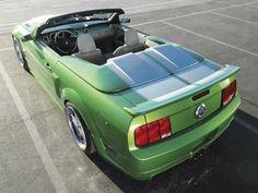 Convertible 06 Green Mustang